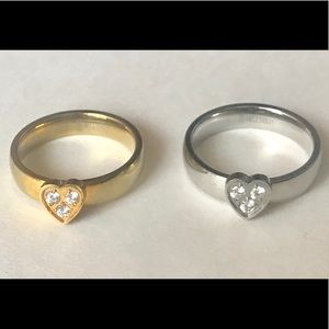 Jewelry - Stainless heart rings